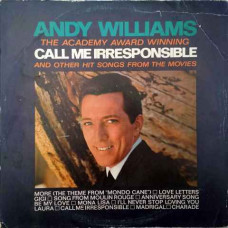 """Andy Williams The Academy Award-Winning """"Call Me Irresponsible"""" CBS 10017 English LP Record"""