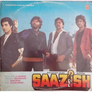 Saazish SFLP 1275 Bollywood Movie LP Vinyl Record