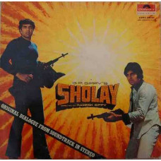 Sholay 2392 072 Dialogues LP Vinyl Record