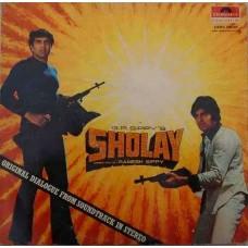 Sholay 2392 072 Dialogues LP Vinyl Record